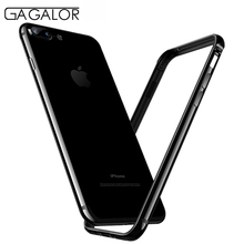 GAGALOR phone metal bumper for iPhone 7 plus with silicon jet black aluminium alloy material case for apple 7plus