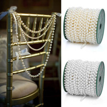 65FT Fishing Line Artificial Pearls Beads Chain Garland Flowers Wedding Party Decoration Products Supply Wedding Decor Crafts