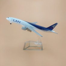 16cm Alloy Metal Chile Air Lan Cargo B777 Airlines Airplane Model Boeing 777 Airways Plane Model Stand Aircraft Kids Gifts(China)