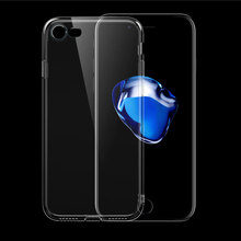 Dustproof High Permeability Transperent Mobile Phone Shell For Iphone7 6Plus Simple Creative Camera TPU Protection Cover/Sleeve