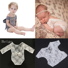 2017 Fotografia Newborn Photography Props Baby Girl Lace Romper Infant Photo Shoot Clothes Romper Baby Photo Shoot Accessories(China)