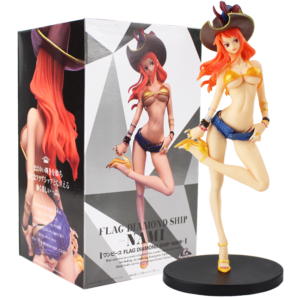 25cm One Piece Nami Pirate  Girl Figurine PVC Figure Collectible Model Toys Doll For Gift