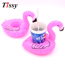 New !1PC Mini Flamingo Floating Inflatable Drink Can Cell Phone Holder Stand Pool Toys For Pool Party And Event&Party Supplies(China)