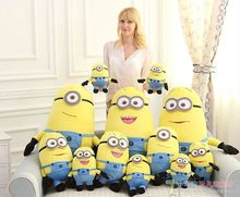 32cm/50cm 3D minion plush toy, minion stuffed doll plush doll toys 3D eyes, valentine's day gift(China)