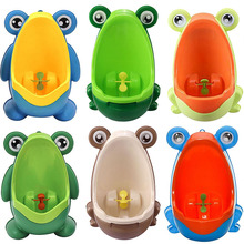Cute Ergonomic Frog Children Baby Potty Toilet Trainers Urinals Boy Hook Kids Potty Training Portable Toilet Windmill(China)