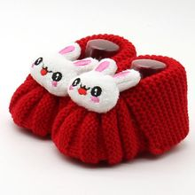 Autumn Winter Hot Infant Cute Handwoven Newborn Baby Girls Boys Crochet Knitting Toddler Crib Shoes Boots 2017(China)