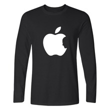 Steve Jobs Apple Design Funny Printed T Shirt Men Long Sleeve T-shirts And Classic Apple TShirt Funny In Cotton Tee Shirts(China)