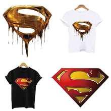 2pcs Lot Superman patch applications for clothes stripes for clothing iron  on patches application of a8240c44ecc0