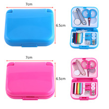 Portable Travel Sewing Set Kits Knitting Storage Box Needle Threads Scissor Thimble Buttons Pins Home Tools Sewing Accessories