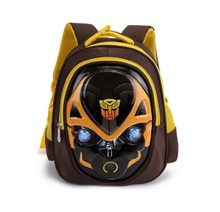 2017 New 3D Transformers Backpack Baby School Bag Cartoon Kid Kindergarten Schoolbag For Kid Mochila Infantil