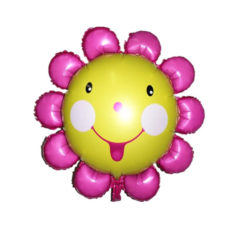 Super Large Sun Flower Foil Balloons Smile Face Mylar Balloon Lovely Kids Toy For Birthday Party Decoration(China)