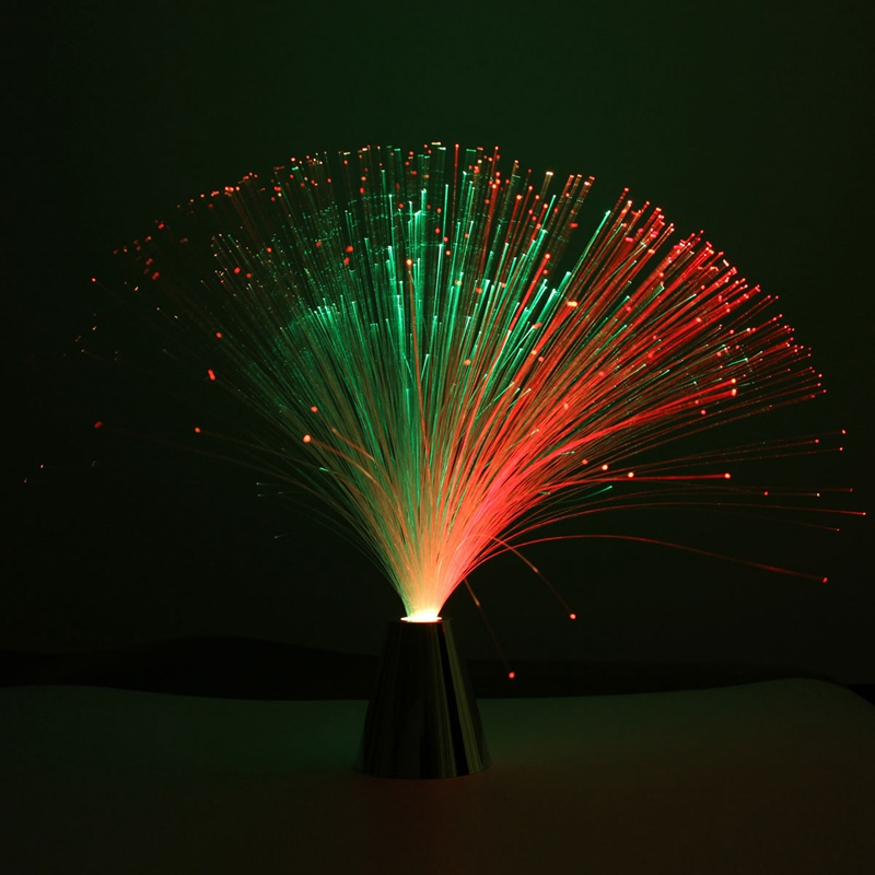 Promotion Flower LED Colour Changing Fibre Optic Fountain Night Light Lamp Relaxing Claming Decor Battery Power For Top Gift(China (Mainland))