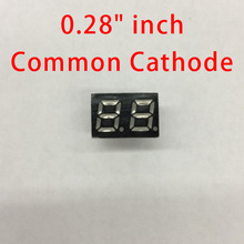 "Free shipping (10Pcs/lot) Wholesale 0.28"" inch 2 Digits 7 Seven Segment Red Light LED Numeric Digital Display,Common Cathode(China)"