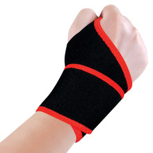 Breathable Adjustable Sport Training Exercises Wristband Unisex Wrist Brace Support For Basketball Volleyball Black