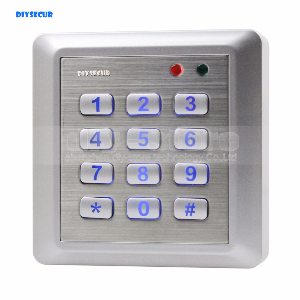 DIYSECUR NEW Waterproof RFID Reader Access Control System Keypad + 10 ID Cards Key Fobs<br>