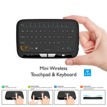 5pc Mini H18 Wireless Keyboard 2.4 G Portable Keyboard With Touchpad Mouse for Windows Android/Google/Smart TV Linux Windows Mac