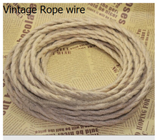 2m/lot 2x0.75 Vintage rope Wire Twisted Cable Retro Braided Electrical Wire Fabric Wire DIY pendant lamp wire vintage lamp cord