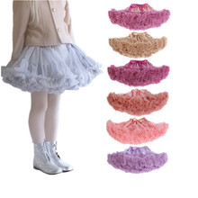 2016 The latest baby girl skirt child Christmas ballet chiffon skirt color five kinds of wholesale tutu JRR003