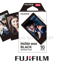 Genuine Fujifilm Instax Mini Black Frame Film 10 Sheets for Mini 8 Plus 70 90 25 50s Camera Share SP-1 SP-2