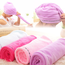 Super absorbent Microfiber Magic Hair Drying Towel Quick Dry Bath Hair hat head wrap Towels Home/hotel Bathroom bathing hat A2