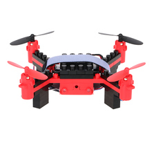 T11S Wifi FPV 0.3MP Camera Drone 3D flip Headless Mode DIY Building Block Altitude Hold G-sensor Quadcopter RC Drones Quad Toy