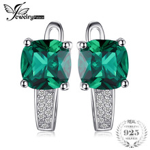 Buy JewelryPalace Cushion 3.1ct Created Green Emerald Clip Earrings 925 Sterling Silver Fine Jewelry Women Accessories for $9.16 in AliExpress store