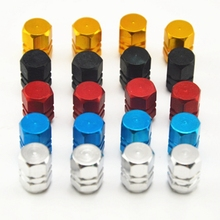 4pcs Universal Aluminum Car Tyre Air Valve Caps Bicycle Tire Valve Cap Car Wheel Styling Round Red Black Blue Silver Gold(China)