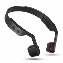 wireless earphone bone conduction bluetooth headset heavy bass call music wire control button stereo head-mounted universal(China)