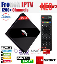 French IPTV H96Pro+ 3G 32G ROM Android 7.1 Smart 4K UHD TV Box+1200+ NEOTV Europe Arabic Beigium Morocco PayTV & VOD Set top Box