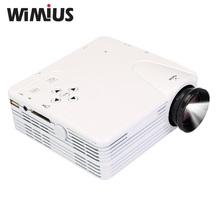 Wimius MIni Portable Projector LED HD Video Beamer 80 Lumens For Home Theater Video Games TV Movie