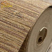 High Quality Nature Straw Texture Vinyl Wallpaper Roll Modern Deep Embossed Bedroom Livingroom Background Interior Wall Covering(China)