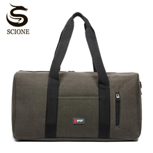 Buy Large Capacity Travel Bag Mens Canvas Shoulder Bag Male/Female Business Bags Travel Duffle Tote Crossbody Messenger Bags Handbag for $11.99 in AliExpress store