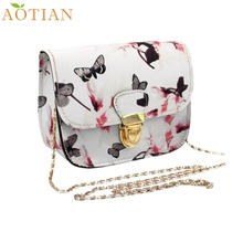 AOTIAN Women Butterfly Flower Printing Handbag Shoulder Bag Tote Messenger Bag Fashion Hot New DropShipping 73-10