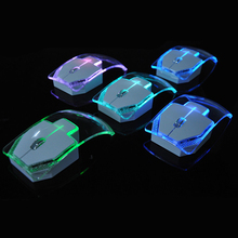 Wireless Laptop Mouse Silent Gamer Transparent LED Ultra-thin 1000DPI Mouse Light Mice for Notebook Desktop Computer