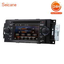 "Seicane 5"" Car Radio DVD Player GPS Navigation for Dodge Caravan Charger 2002-2007 bluetooth TV tuner USB Support Digital TV(China)"
