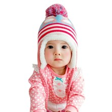 2017 Winter Warm Baby Hat Cap Thicken Kids Girls Boys Colorful Infant  Hat Children Hedging Cap Cute Penguin Newborn