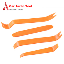 4pcs Portable Auto Car Radio Panel Door Clip Panel Trim Dash Audio Removal Installer Pry Kit Repair Tool Plastic free shipping