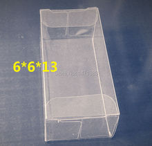 6*6*13cm Free Shipping clear PVC boxes wholesale cupcakes plastic box pack,candy gift pvc box(China)