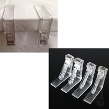 4Pcs/set Clear Plastic Table Cover Cloth Tablecloth Clip Clamp Holder For Party Wedding Event Party Supplies