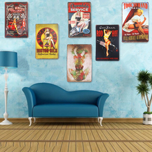 Metal Tin Signs Pin Up Girl Motorcycle Biker Route 66 Car ManCave Garage Club Decor Craft Wall Painting