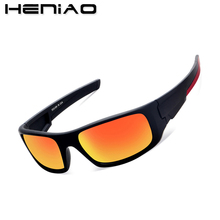 Special sales HENIAO Brand 2017 New Sports Men Sunglasses Fashion Male Eyewear Sun Glasses UV400 HD Sunglasses for men(China)