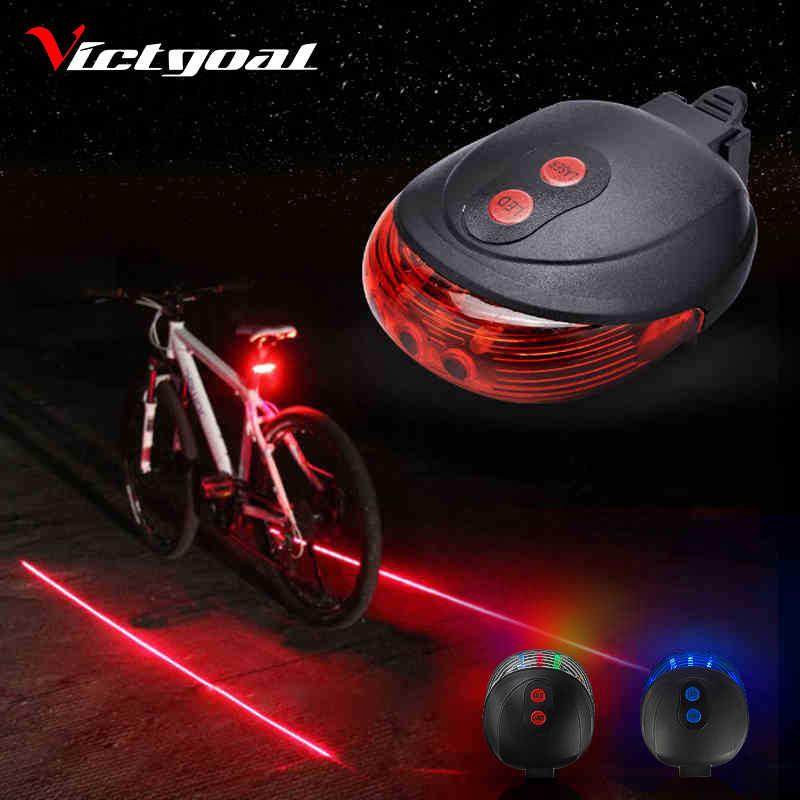 5 LED Laser Beam MTB Mountain Bicycle Bike Rear Tail Warning Lamp Light ~Y