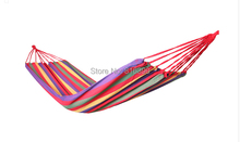 free shipping100*200cm New Huge Double Cotton Fabric Hammock Air Chair Hanging Swinging Camping Outdoor Red(China)