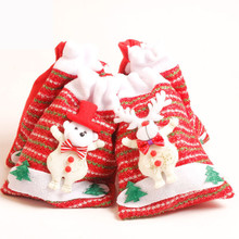 Creative Home Party Christmas Bag Decoration Souvenir Candy Gift Bag Storage Bag Home Decor AccessoriesF918(China)