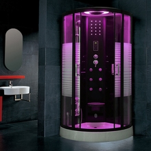 90cm Black Steam shower ROOM cabin douche cabine Shower room Cubicle Bathroom Enclosure Bath Room Jetted Massage 137