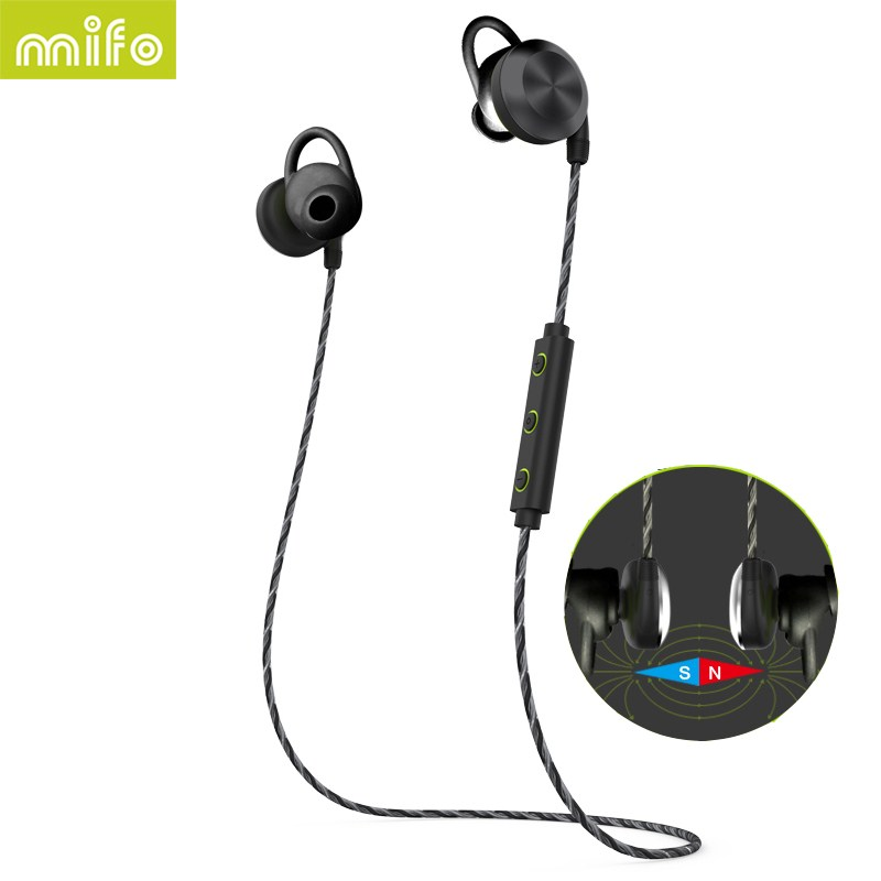 Mifo U2 magnetic adsorption wireless Bluetooth headset with mic IPX7 waterproof stereo headset Give the child the best gift<br>