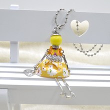 FREE SHIPPING BY DHL TNT  PARIS Handmade Dance Doll Pendants Necklace  necklace Fashion women girl  necklace bag charms