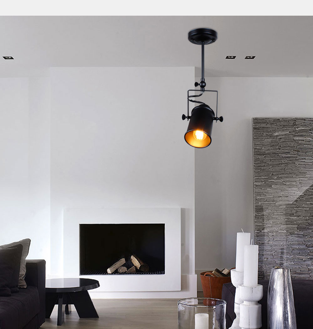 Industrial Pendant Light Vintage Loft pendant light Spotlights American pendant Lamp LED Lamp Restaurant cafe bar decoration 5