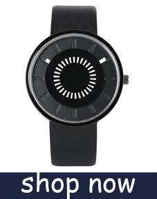 YISUYAแฟชั่นลำลองผู้ชายนาฬิกาอะนาล็อกควอตซ์ฉลามสีดำสแตนเลสตาข่ายวงสร้างสรรค์นาฬิกาข้อมือท... 10