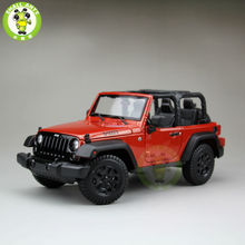 1:18 Scale 2014 Jeep Wrangler New Willys Diecast Car Suv Model Maisto 31676 Orange&Black(China)